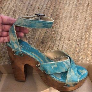 BedStu Madeline Cobbler Sandals / Heels - Size 8